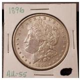 1896-P Morgan Dollar: A.U