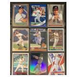 (9) Mint Chipper Jones Baseball Cards