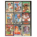 (9) Mint Johnny Bench Baseball Cards