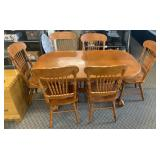 Dining Table W/ (6) Chairs & Leaf
