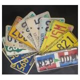 (11) Assorted State License Plates