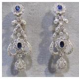 18k WG chandelier earrings 1.43tkw