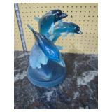 acrylic dolphin sclupture