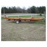 Ausable River fishing boat>