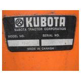 serial tag on snowthrower