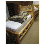 another log single bed>