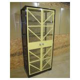 industrial style storage cabinet
