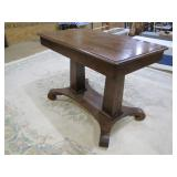 another oak library table >