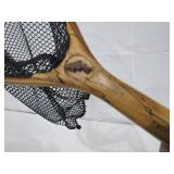 hand crafted landing net>