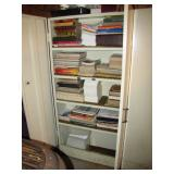 cabinets full of truck, auto, military, radio manuals>
