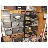 1st view of radios in Bills garage shop, close ups following>