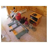 assorted free weights