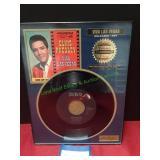 Elvis Presley RIAA Certified Platinum Record