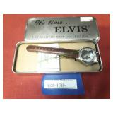Vintage Elvis Presley Watch In Metal Tin