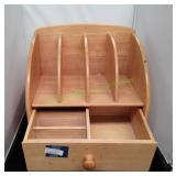 Wooden Mail Organizer w/ Pull Out Drawer