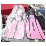 Cressi-Sub Pro Light S-M Flippers Pink