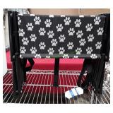Pet Stairs Foldable Black/White