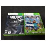 (2)Xbox 360 Games Minecraft & Call of Duty Ghosts