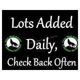 Additional Lots Added Daily. Check Back Often!