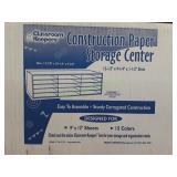 Classroom Construction Paper Storage Center