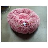 Plush  Non Skid Bottom Red & White Pet Bed
