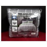 Full/Queen 3Pc Comforter Set Grey/White