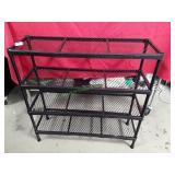 "Metal 4 Tier Shelf Black 31 1/8""X10 1/2""X31"""
