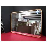 Tinytimes Bathroom Mirror Gold Trim