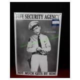 Fife Security Agency Metal Sign