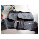 3Pc Vehicle Black Rubber Mat Set