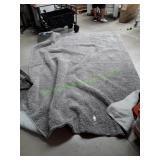 Gorilla Grip Grey Luxury Shag Area Rug