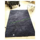 Gorilla Grip Navy Blue Luxury Shag Area Rug