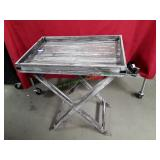 Wooden Serving Tray w/ Stand