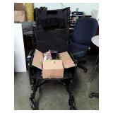 Healthline Wheel Chair w/ Head Rest Foot Pedal