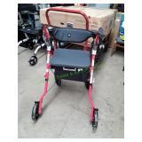 Medline Premium Empower Rollator Walker w/ Seat