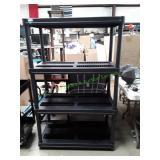 Black Plastic 4-Tier Utility Shelf