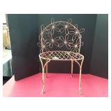 Vintage Metal Flower Chair