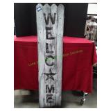 """13"""" X 58 1/2"""" Wooden Welcome Sign"""