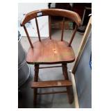 Vintage Wooden Booster Seat
