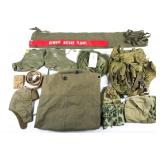 US ARMY FIELD GEAR HAT AND PACK MIXED LOT OF 10