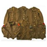 WWII US ARMED FORCES TUNIC UNIFORM MIXED LOT OF 6