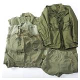 KOREA VIETNAM US ARMY COVERALL & JACKET MIXED LOT