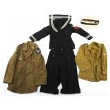 WWII US NAVY OFFICER WAVES DRESS OVERCOAT & HAT