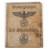 WWII GERMAN WAFFEN SS IDENTIFICATION BOOK