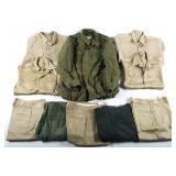 VIETNAM WAR US ARMY UNIFORM LOT OF 10