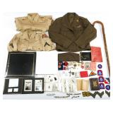 WWII US ARMY NAMED UNIFORM PHOTO AND MORE ARCHIVE