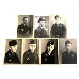 WWII GERMAN PANZER DIVISION SOLDIER PHOTO LOT OF 7