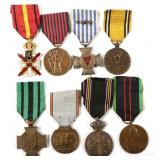 WWII BELGIUM MEDAL LOT OF 8