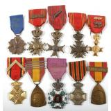 WWII BELGIUM MEDAL LOT OF 10