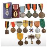 WWII BELGIUM MEDAL LOT OF 17